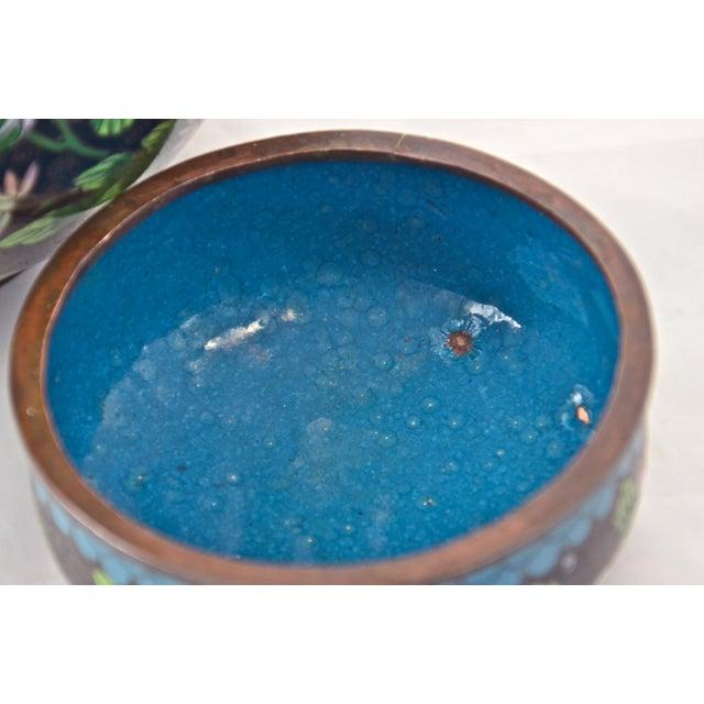 Antique Floral Cloisonné Longevity Jar - Image 8 of 9