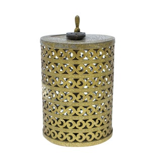 Vintage Round Brass Bank