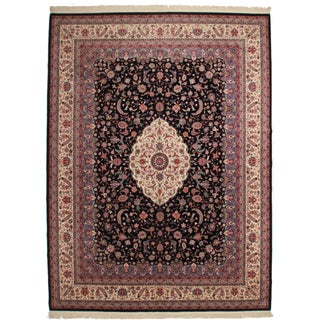 Vintage Hand Knotted Wool Chinese Rug - 12' X 16'