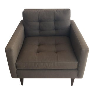 Crate & Barrel Petrie Chair in Charcoal