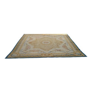 Antique French Aubusson Rug - 9′3″ × 10′3″
