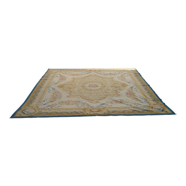 Antique French Aubusson Rug - 9′3″ × 10′3″ - Image 1 of 7