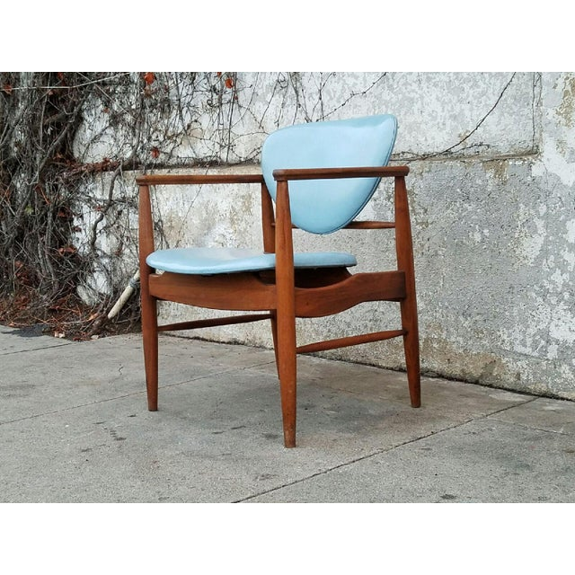 Mount Airy Finn Juhl-Style Vintage Chairs - A Pair - Image 4 of 7