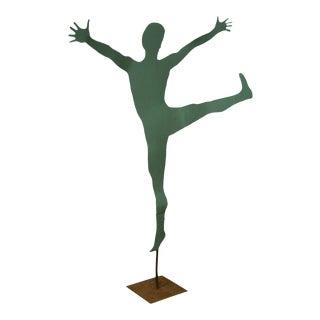 Mid Century Modern Large Dancing Ballerina Metal Garden Sculpture (A)