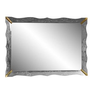 Venetian Mirror With Gold Accent