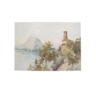 1905 Ella du Cane Print, San Salvatore, Lago di Lugano