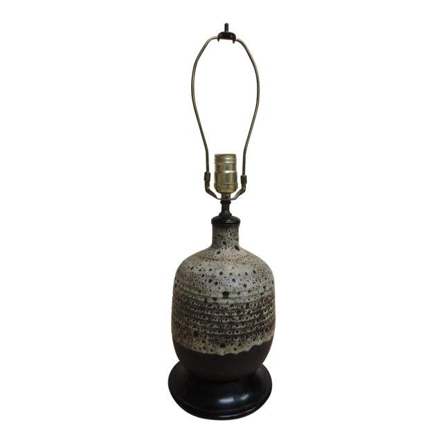 Image of Mid-Century Modern Art Pottery Ceramic Table Lamp