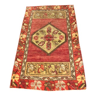 Vintage Turkish Oushak Rug - 2′6″ × 4′1″