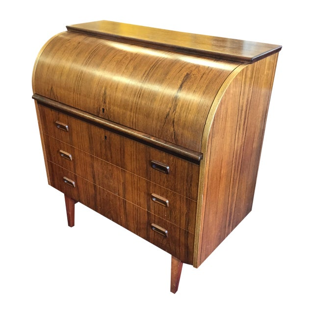 Mid-Century Danish Rosewood Roll-Top Desk - Image 1 of 9