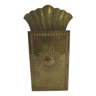 Vintag Brass Starburst Match Stick Holder