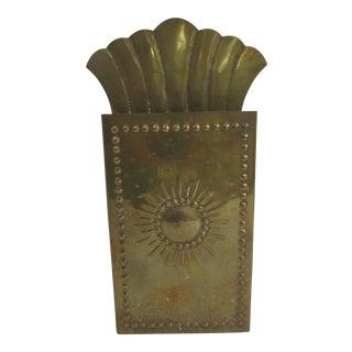 Vintag Brass Starburst Match Stick Holder