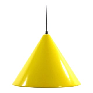 Arne Jacobson for Louis Poulson Yellow Pendant Fixture