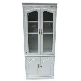 Sea Crest Glass Door Cabinet in White