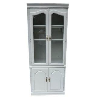 Sea Crest Glass Door Cabinet in White