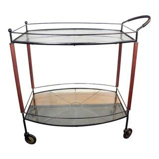 Vintage Mid Century Rolling Bar Tea Serving Hostess Cart
