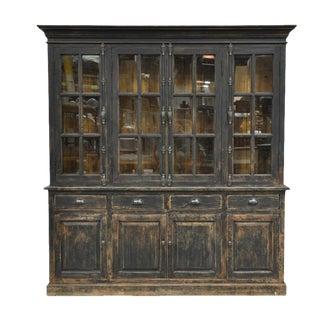 Black Distressed Display Cabinet