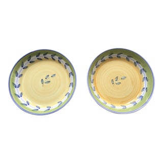 Hand Painted Caleca Italian Serving Bowls - A Pair