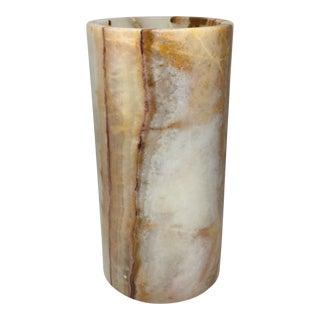 Vintage Cylindrical Onyx Vase