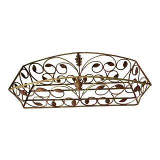 French Wrought Iron Window Box
