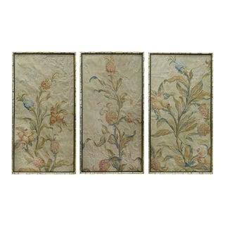 18th Century Floral Aubusson Panels, Set of Three