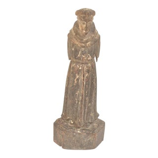 Antique Wood Carved Santos Figure