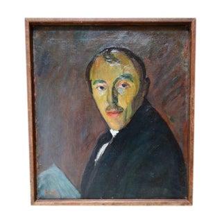 Self-Portrait Oil on Canvas by Ejnar Hansen