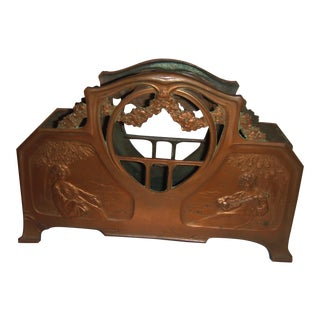 Art Nouveau Copper Letter Holder