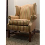 Image of Large Ethan Allen Wing Chair W/ Chippendale Legs