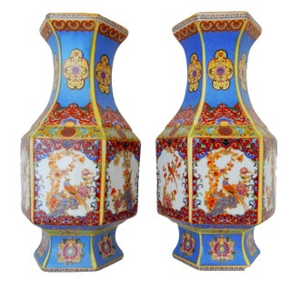 Chinese Porcelain Famille Rose Vases- A Pair