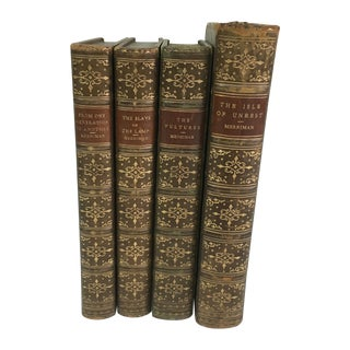 Henry Merriman Leather Books - Set of Four
