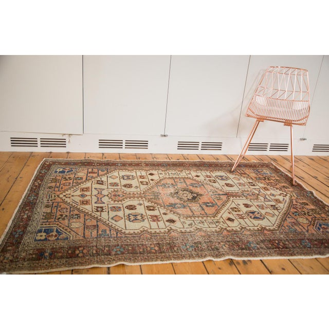 "Vintage Distressed Malayer Rug - 4'4"" x 6'3"" - Image 2 of 11"