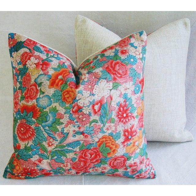 Sale! 4 Summer Floral Linen Pillow Covers - Set 4 - Image 5 of 9