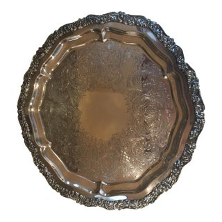 Silver-Plated Vintage Serving Tray Platter