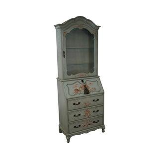 Jasper Vintage Hand Painted Chinoiserie Secretary Desk