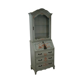 Jasper Vintage Hand Painted Chinoiserie Secretary Desk