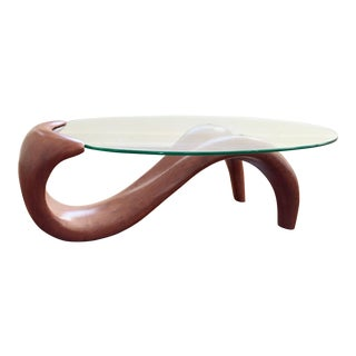 Contemporary Wood Sculpture Coffee Table