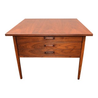 Mid-Century Walnut 3-Drawer Coffee Table