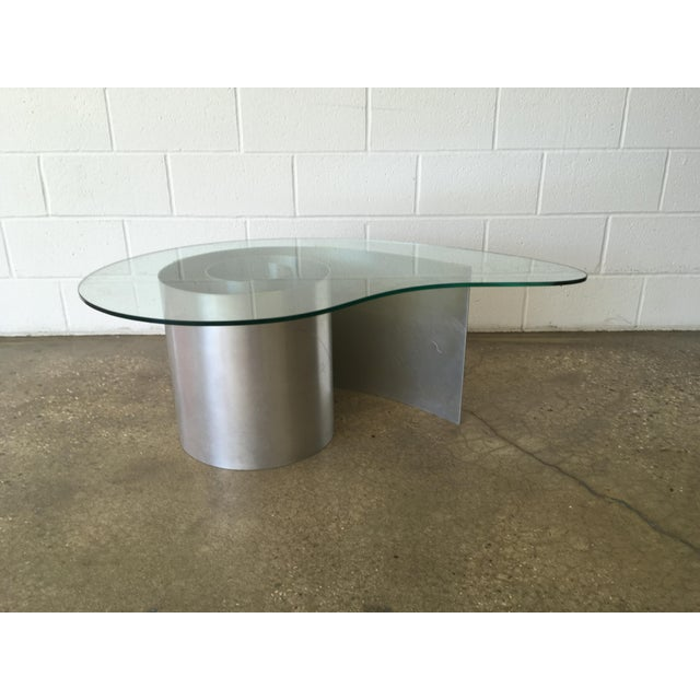 Vladimir Kagan Aluminum And Glass Nautilus Coffee Table Chairish