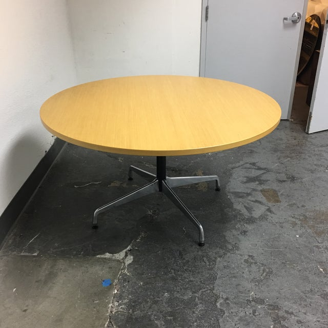 Herman Miller Eames Round Ash Dining Table - Image 7 of 8