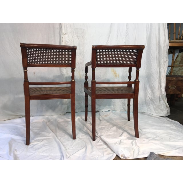 Kindel Regency Style Armchairs - A Pair - Image 5 of 7