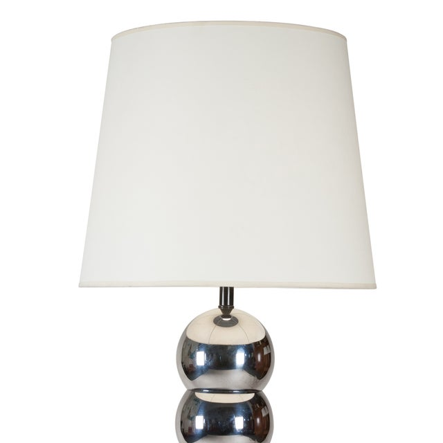 Image of 1960s American Chrome Bubble Floor Lamp