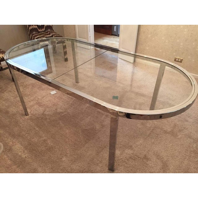 Milo Baughman for Design Institute of America Chrome Dining Table - Image 2 of 10