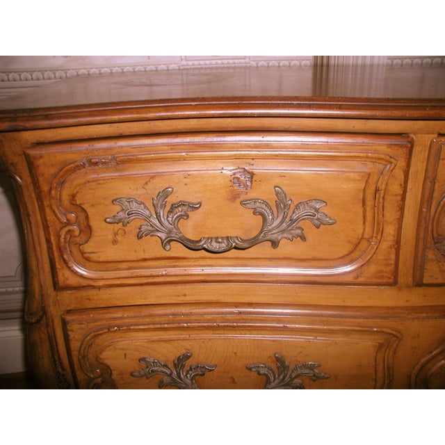 French 20th C. Five Drawer Fruitwood Chest - Image 9 of 9