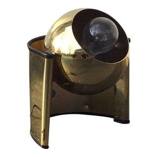 """Mid-Century Brass """"Eyeball"""" Spotlight Lamp"""