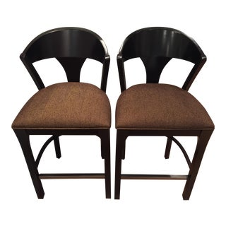 Century Furniture Split-Back Barstools - A Pair