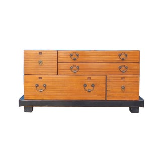 Chinese Zen Fusion Brown/Black Dresser or Console