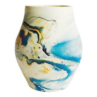 Vintage Blue Nemadji Pottery Vase