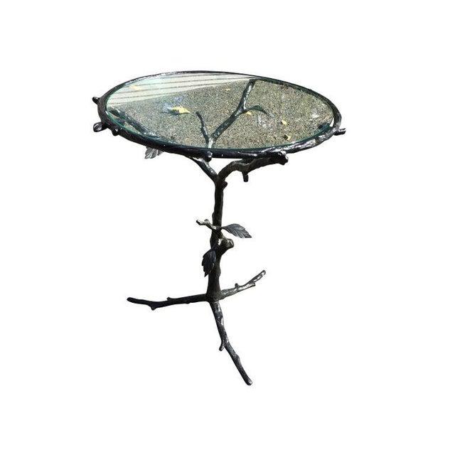 Image of Metal Organic Branch & Leaf Base Side Table