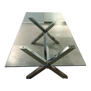 Glass & Metal Dining Table