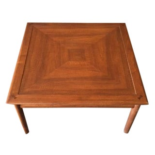 Drexel Mid Century Refinished Walnut Corner Table